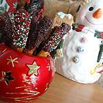 recette Bâtonnets de bretzel chocolatés