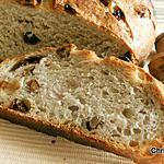 recette Pain au levain noix et raisins secs