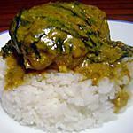 recette Poulet aux épinards à la Crème de Curry