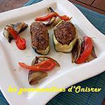 recette Farcis de courgettes au couscous
