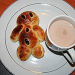recette Manalas de Saint Nicolas avec un lait chocolaté