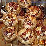 recette Champignons farcient aux bacons et fromage
