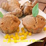 Muffins au gingembre confit