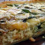 recette Tarte Chèvre-Saumon-Epinards