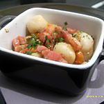 recette cassolette de noix de saint-jacques aux petits lardons et céleri