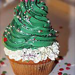 "recette Cupcakes ""Sapin de Noël"""