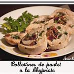 recette Ballottines de poulet à la Chypriote