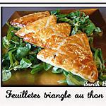 recette Feuilletés triangle au thon