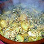 recette Pommes de terres sautés.... au thon..... à l'orientale...