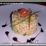recette Timbale avocat-saumon-crabe