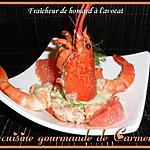 recette Fraîcheur de homard à l'avocat