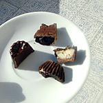 recette Chocolats à la menthe et chocolats à la noix de coco