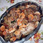 recette poulet aux gambas et banyuls