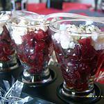 recette verrines de betteraves au chavignol (noël)