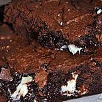 recette LE brownie aux 3 chocolats