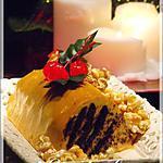 recette Bûche-biscuit au caramel