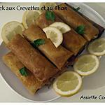 recette Bourek aux crevettes et au thon