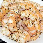 recette Crevettes roses marinées au basilic