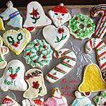 Biscuit de Noël à la crème sure, peint ou dessiné à la main