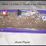 BUCHE CREME CHOCOLAT MARRON