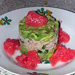 recette Tartare de crabe, avocat et pamplemousse rose