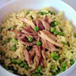 recette pate au poulet et petit pois (ideal quand il y a des reste de poulet roti)