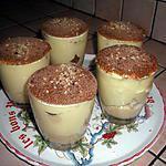 Verrine de tiramisu saveur crème brulée