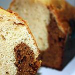 recette Cake marbré raisinée (vin cuit) et vanille