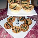recette mini tartelettes aux asperges vertes et lardons