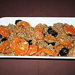 recette Emincée de carottes à l'Orientale......