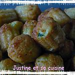 recette cannelés courgette et lardons