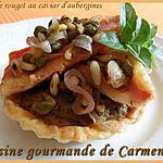 recette Tartelette de rouget au caviar d'aubergines