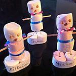 recette Marque place bonhomme de neige en marshmallow