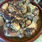 recette Tajine de poulet au citron confit et olives