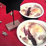 Oeuf cocotte aux foie gras et magret de canard