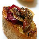 recette Bruschetta de foies de volaille et figues