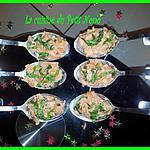 Cuilléres de Tartare de Saumon Cru
