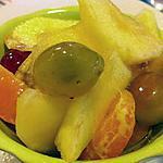 recette Salade de fruits d'hiver au sirop allégé qui utilise le jus des fruits et juste 1 cuillère de miel