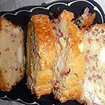 recette cake aux allumettes de lardons et kiri
