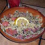 recette salade de pâtes au saumon fumé
