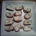 recette petite toast chaud au brie et ciboulette