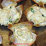 recette Coupes aux crabes et fromgage