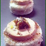 recette Canapés au foie gras sur confiture de figues
