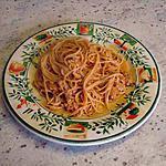 recette Spaghetti bolognaise revisité (Pas vraiment light mais très bon!!!)