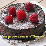 recette Fondant au chocolat et framboises
