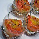 recette Verrines de saumon frais, citron, pavot