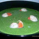 recette crème de cresson aux noix de saint jacques poelées