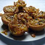 recette Muffins à la pate d 'amandes et confits de confiture d 'oranges