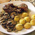 recette cuisses de poulet aux champignons