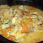 recette Fricassée de poulet